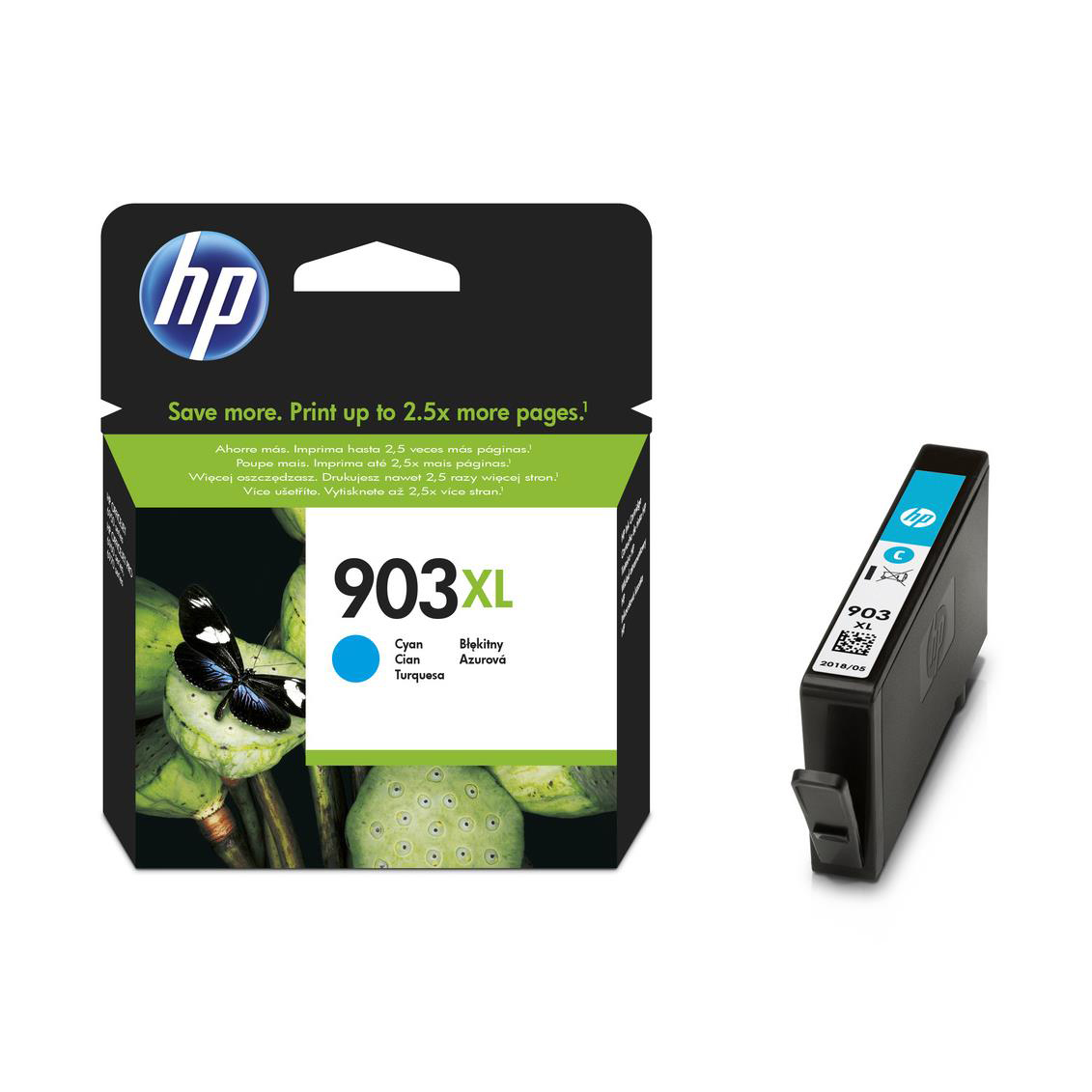 Hewlett Packard [HP] No.903XL Original Ink Cartridge High Yield 825pages Cyan Ref T6M03AE
