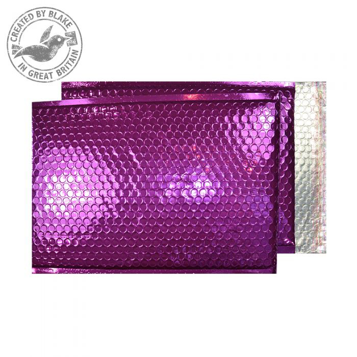 Shades of Purple Purely Packaging Padded Envelope P&S C4 Metallic Purple Ref MBPUR324 Pk 100 *10 Day Leadtime*