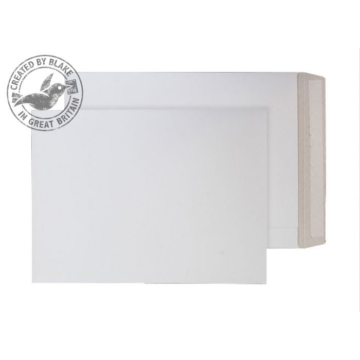 Board Backed Envelopes Purely Packaging Envelope All Board P&S 350gsm 450x324mm White Ref PPA17 Pk 100 *10 Day Leadtime*