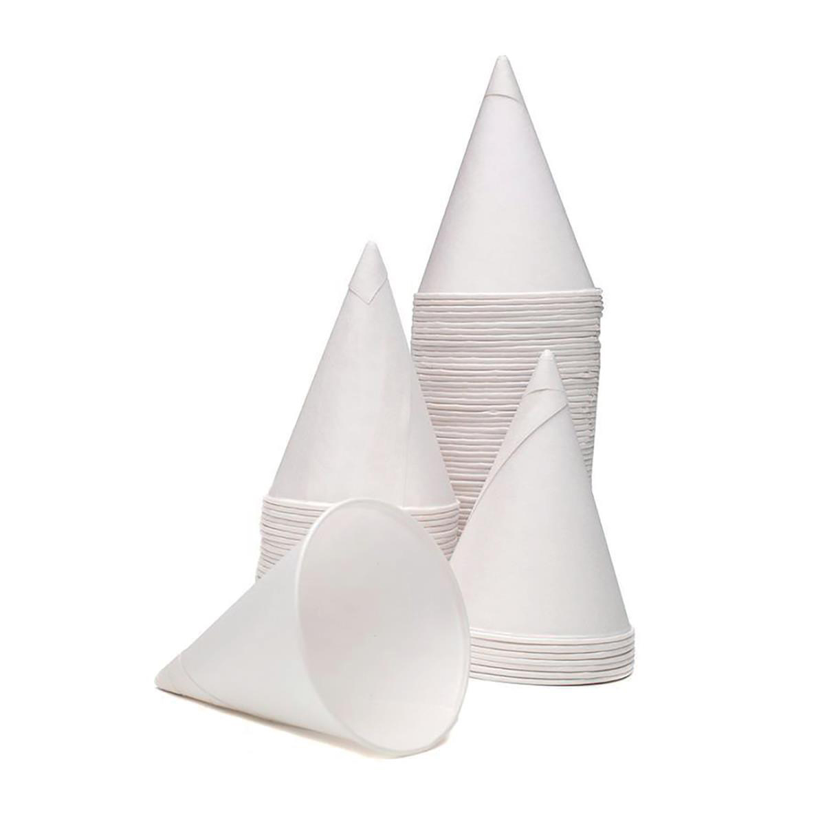 Disposable Cups & Accessories Water Cones Disposable 4oz 114ml White Ref ACPACC04 Pack 5000