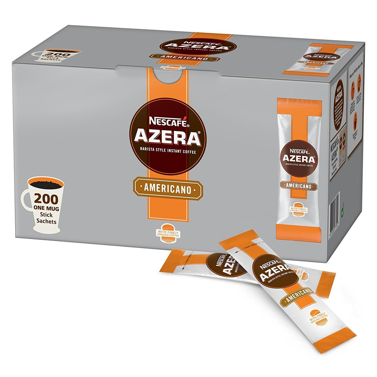 Coffee Nescafe Azera Americano Instant Coffee Sachets 2g Ref 12356930 Pack 200