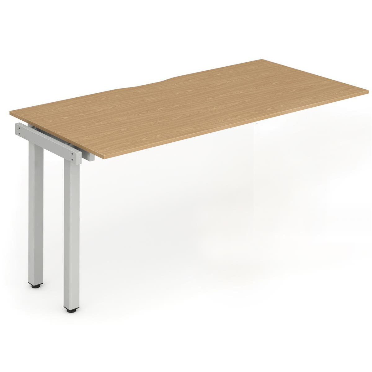 Trexus Bench Desk Single Extension Silver Leg 1600x800mm Oak Ref BE328