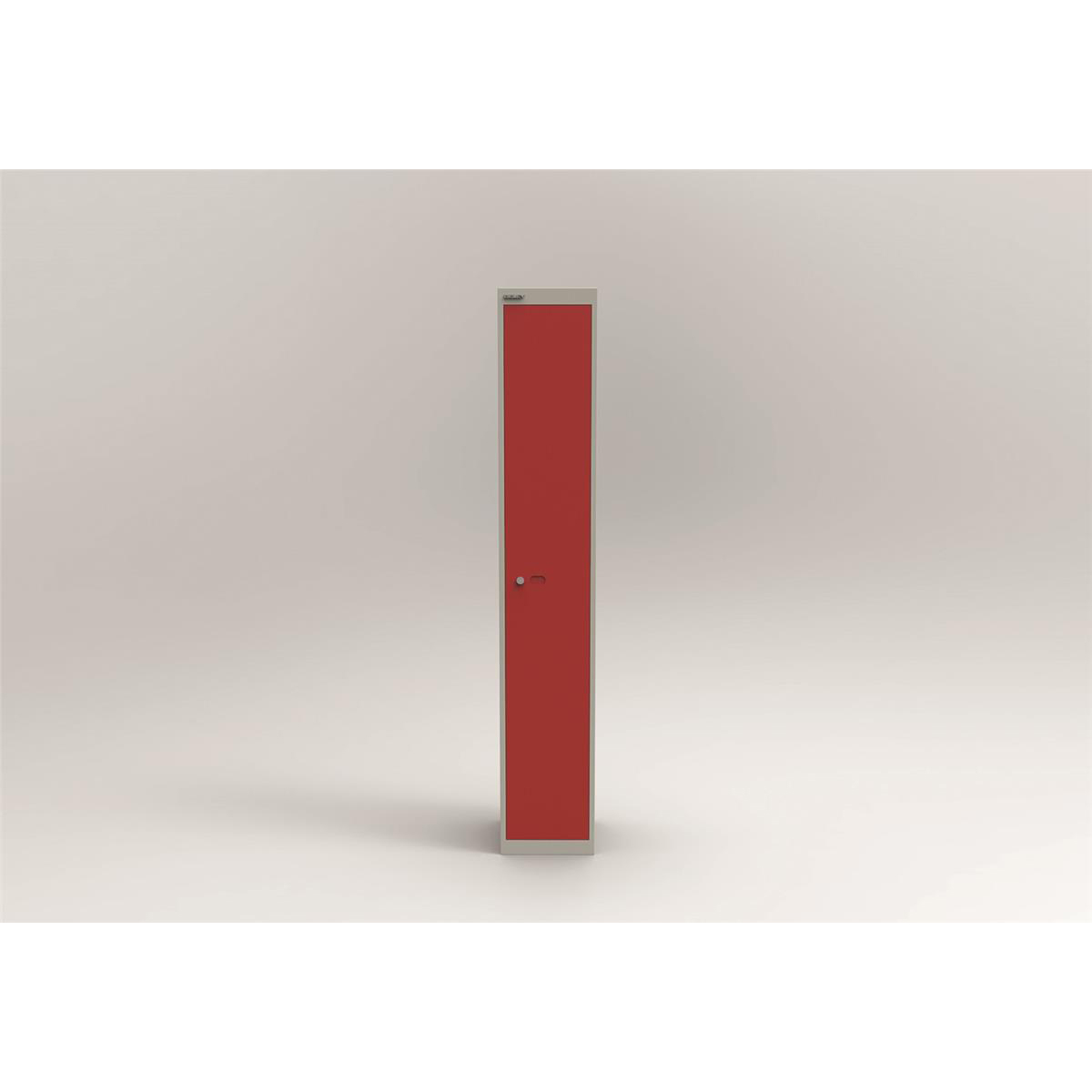 Lockers Bisley Locker 1 Door Goose Grey/Red 305d Ref CLK121-av4ay8