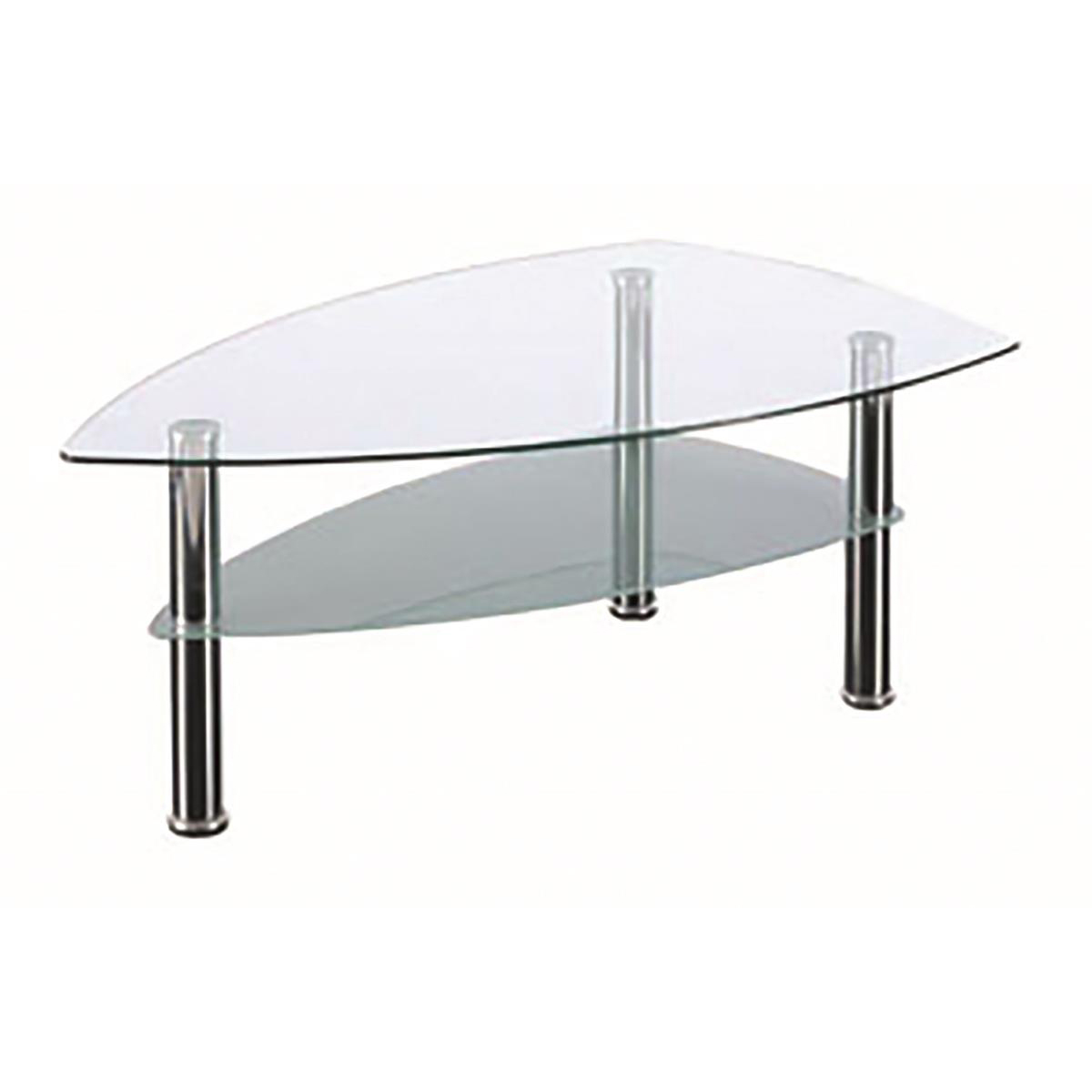 Sonix Boat Glass Table 1190x690x450mm Chrome Legs