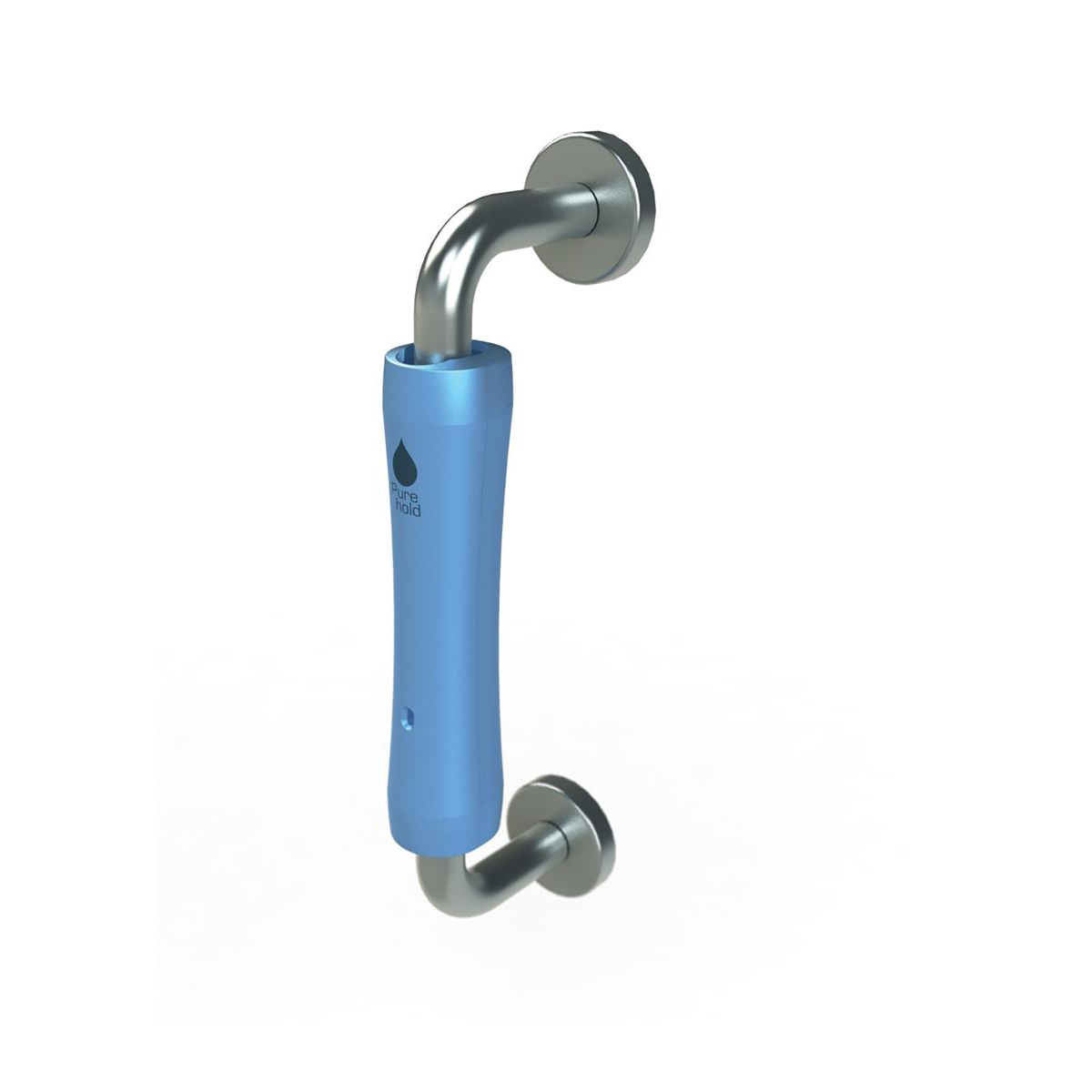 Handles or knobs P-Wave P-Hold Door Handle Cover Antibacterial 6 Months Protection Ice Blue Ref WZPH20ICE