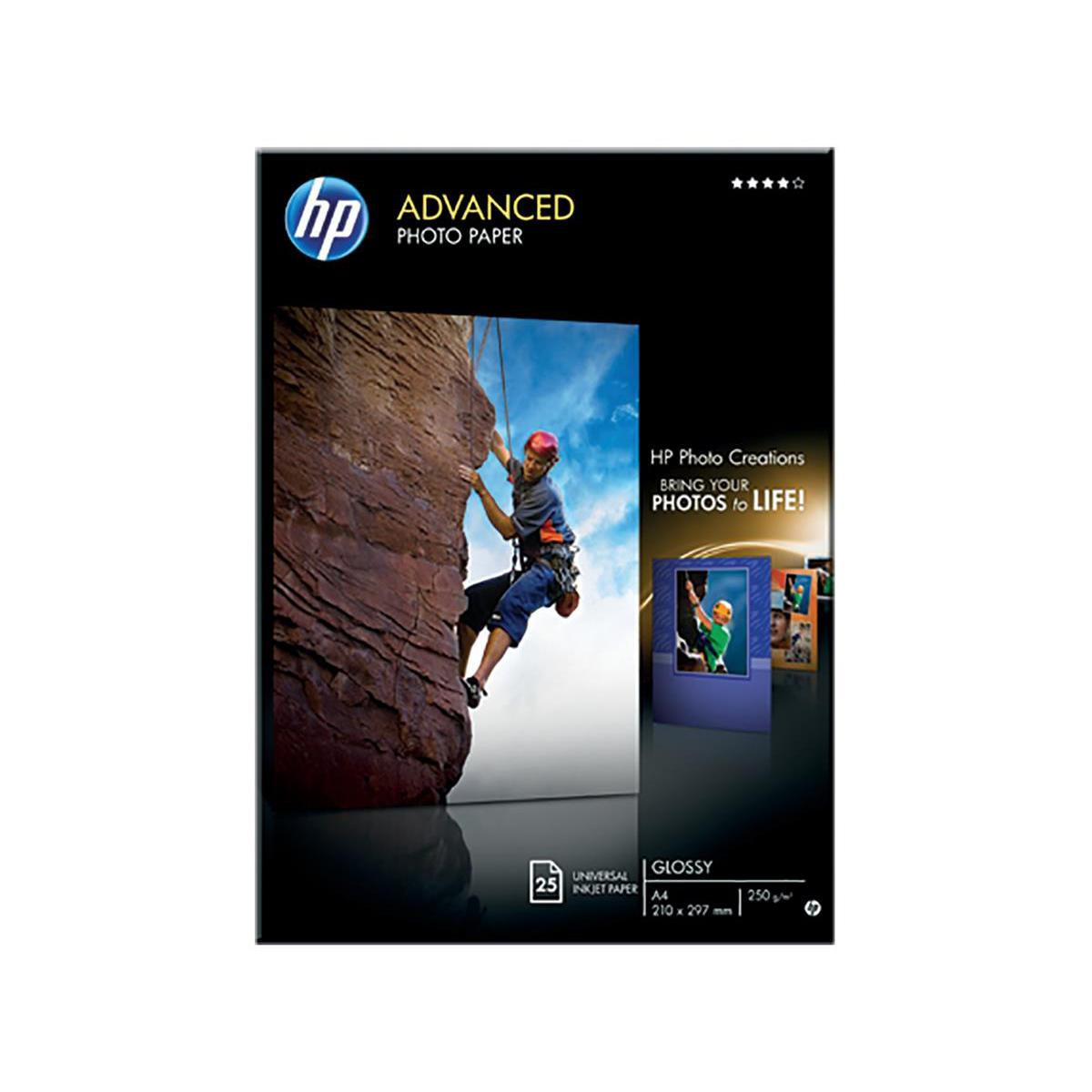 Hewlett Packard [HP} Advanced Photo Paper Glossy 250gsm A4 Ref Q5456A [25 Sheets]