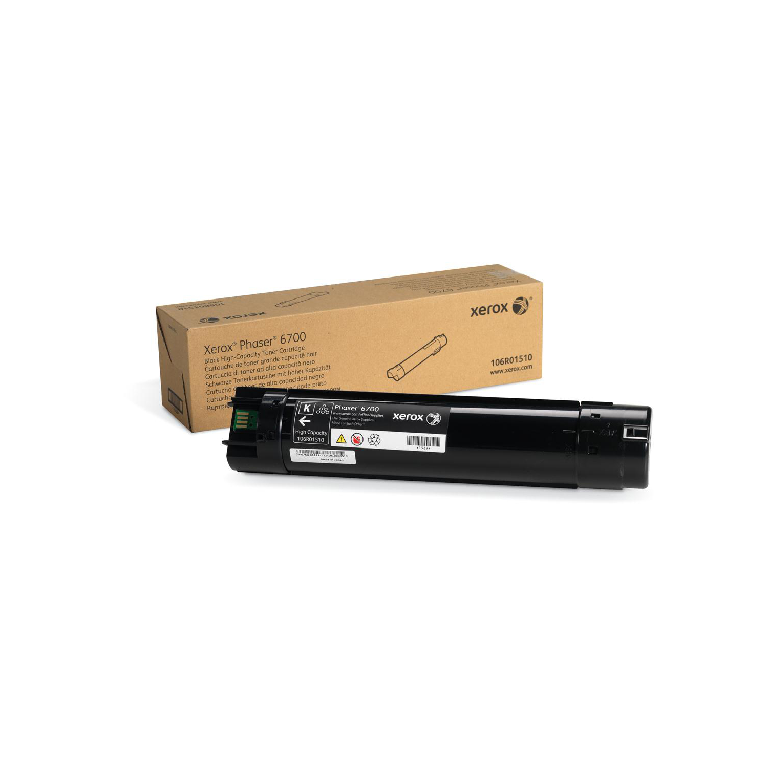 Xerox PH6700 Toner Cartridge High Yield 18000pp Black Ref 106R01510