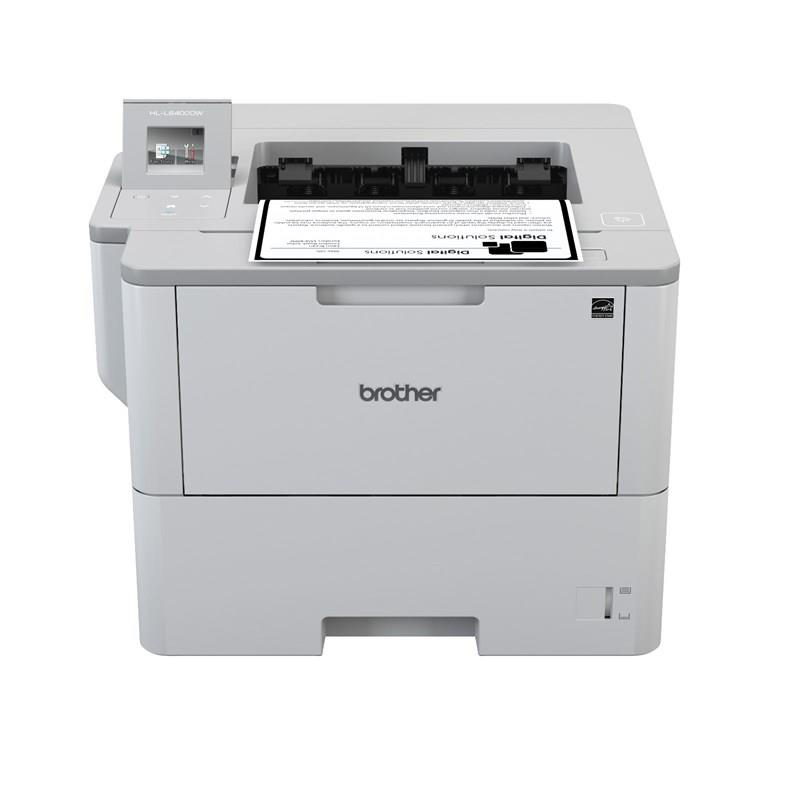Laser printers Brother HL-L6400DW Mono Laser Printer 50ppm WiFi Duplex Touchscreen LCD Ref HLL6400DWZU1
