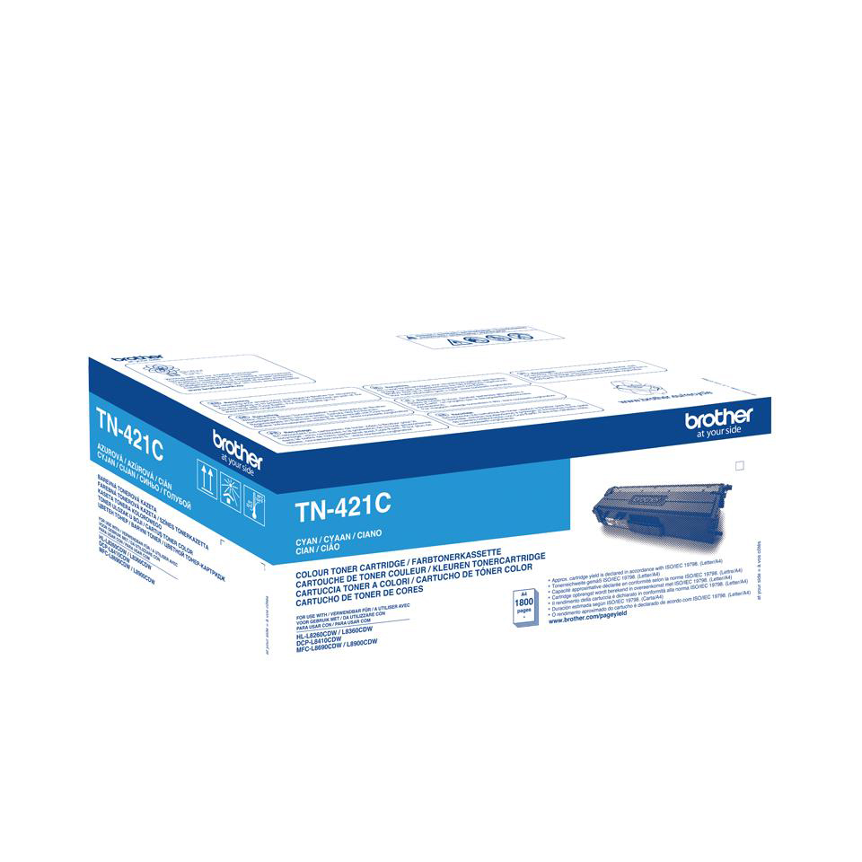 Brother TN421C Laser Toner Cartridge Page Life 1800pp Cyan Ref TN421C