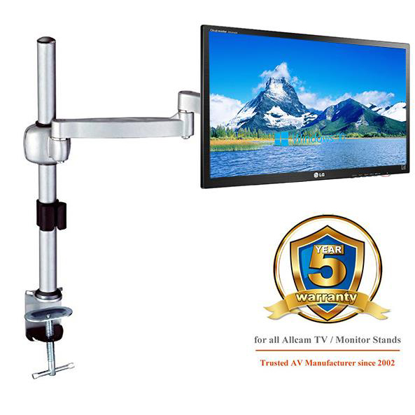 Acava Monitor Single Arm 360 LCD Rotation 6kg Silver Ref AVM04G