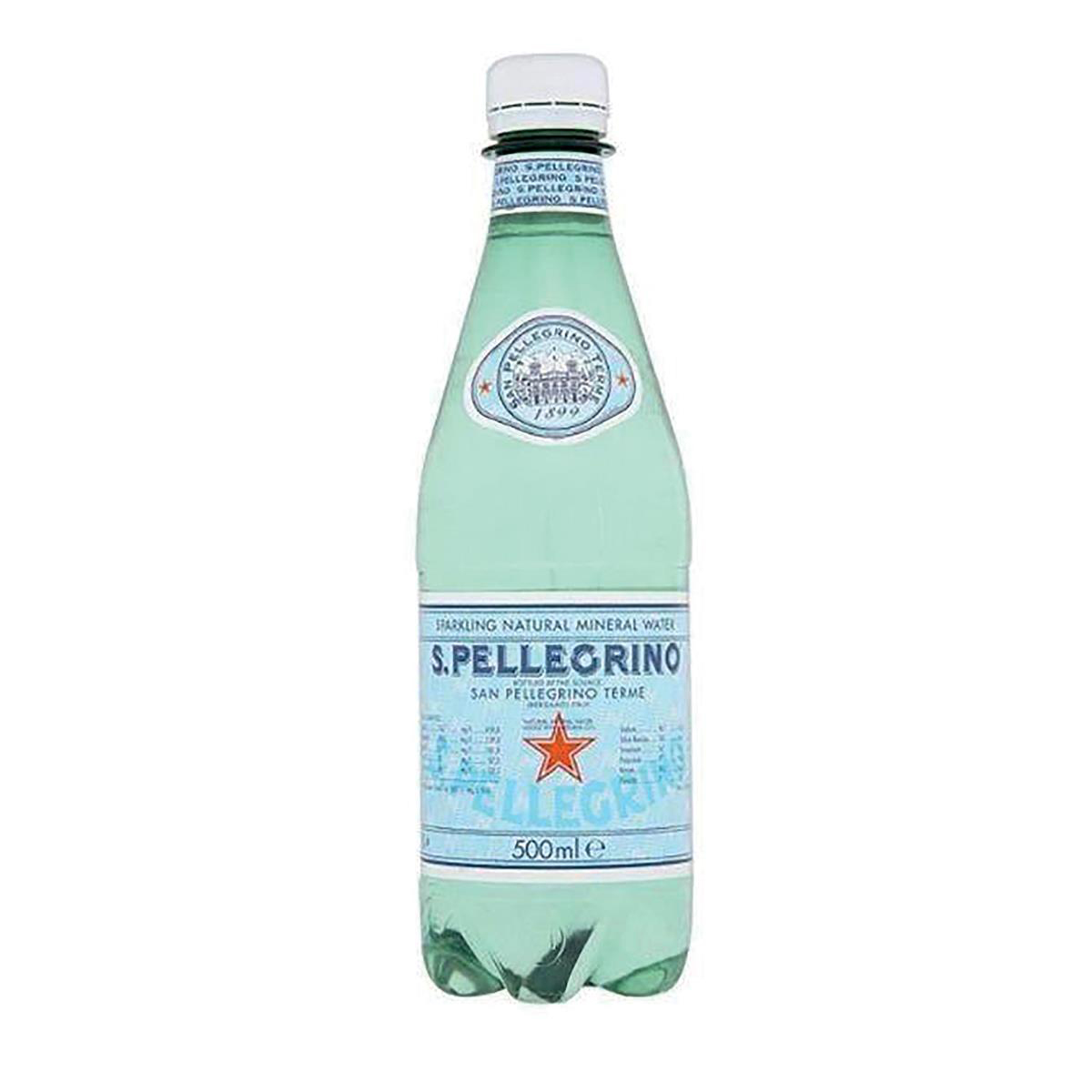 San Pellegrino Sparkling Mineral Water Bottle 500ml [Pack 24]