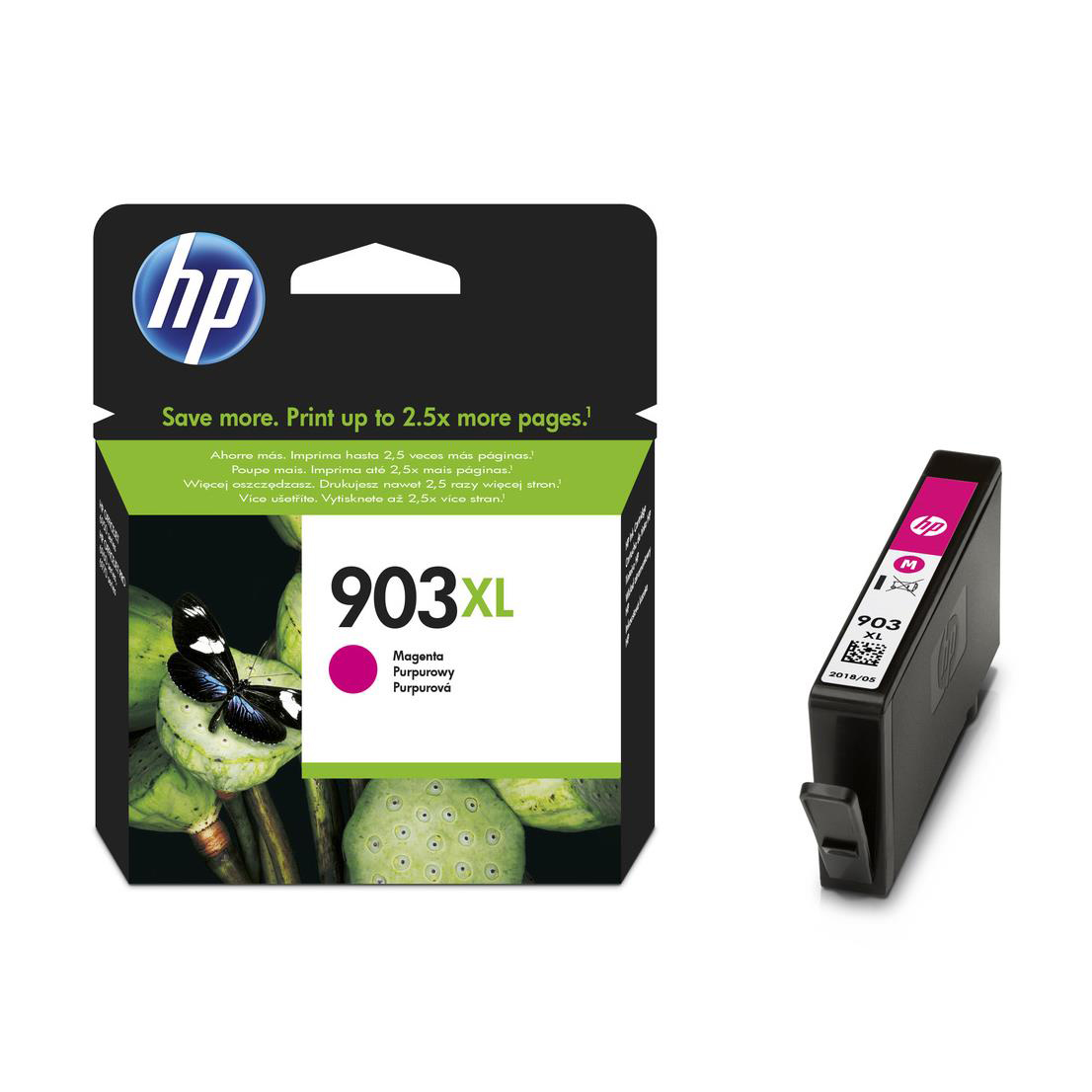 Hewlett Packard [HP] No.903XL Ink Cartridge High Yield Page Life 825pp 9.5ml Magenta Ref T6M07AE