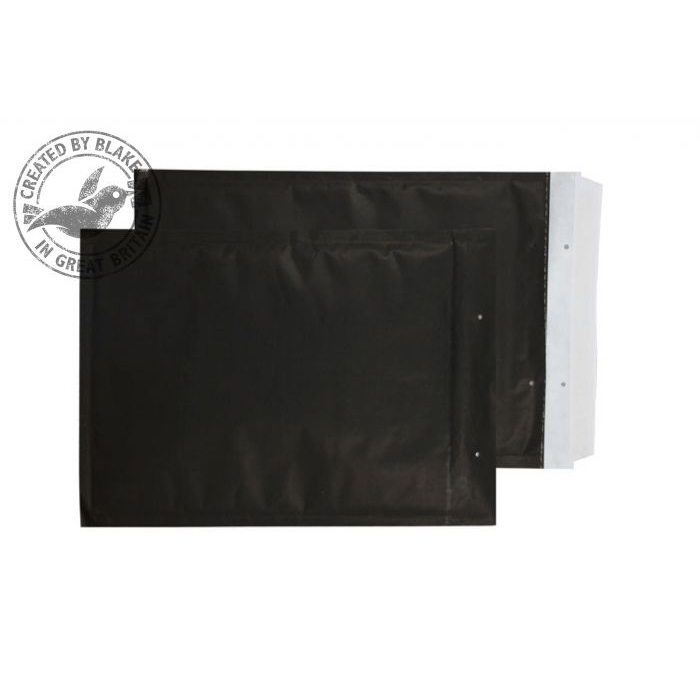 Purely Packaging Envelope P&S 470x350mm Bubble Envolite Black Ref KBP470 [Pk 50] *3 to 5 Day Leadtime*