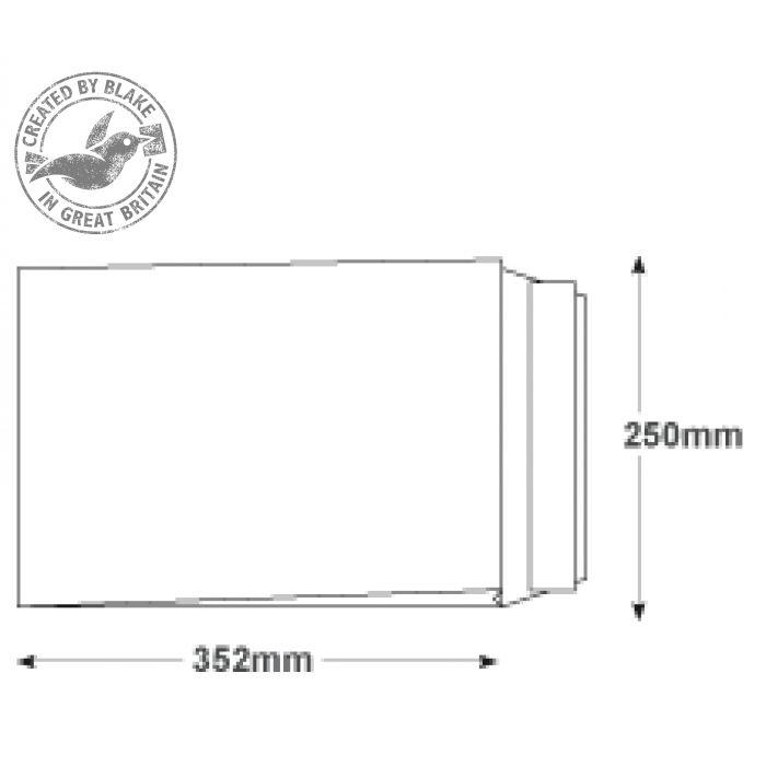 Purely Packaging Envelope P&S B4 350x250x25mm Window White Ref 41062W [Pack 125] *10 Day Leadtime*