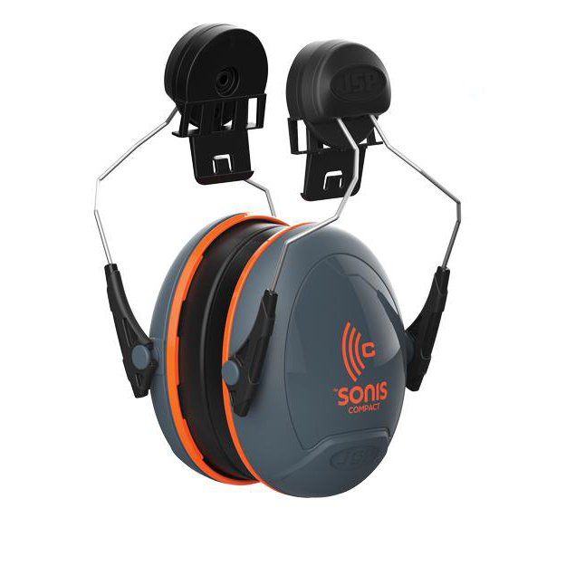 Ear plugs JSP Sonis Compact Ear Defenders Medium Attenuation Helmet-mounted Ref AEB030-0CY-0G1