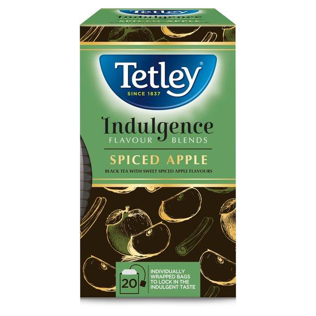 Tetley Indulgence Individually Enveloped Teabags String & Tag Spiced Apple Ref 4001A 20 Bags