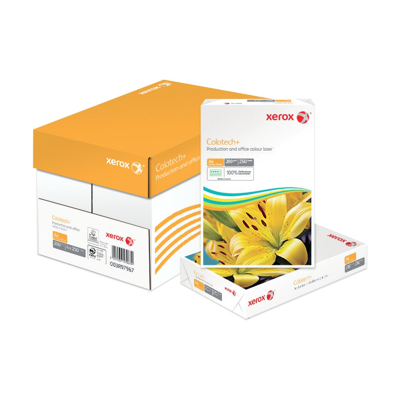 Xerox Colotech Plus Card 200gsm A4 White Ref 63793 250 Sheets