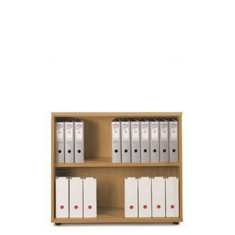 Sonix Low Bookcase 1000x425x870mm 1 Shelf Rich Beech Ref w9875b