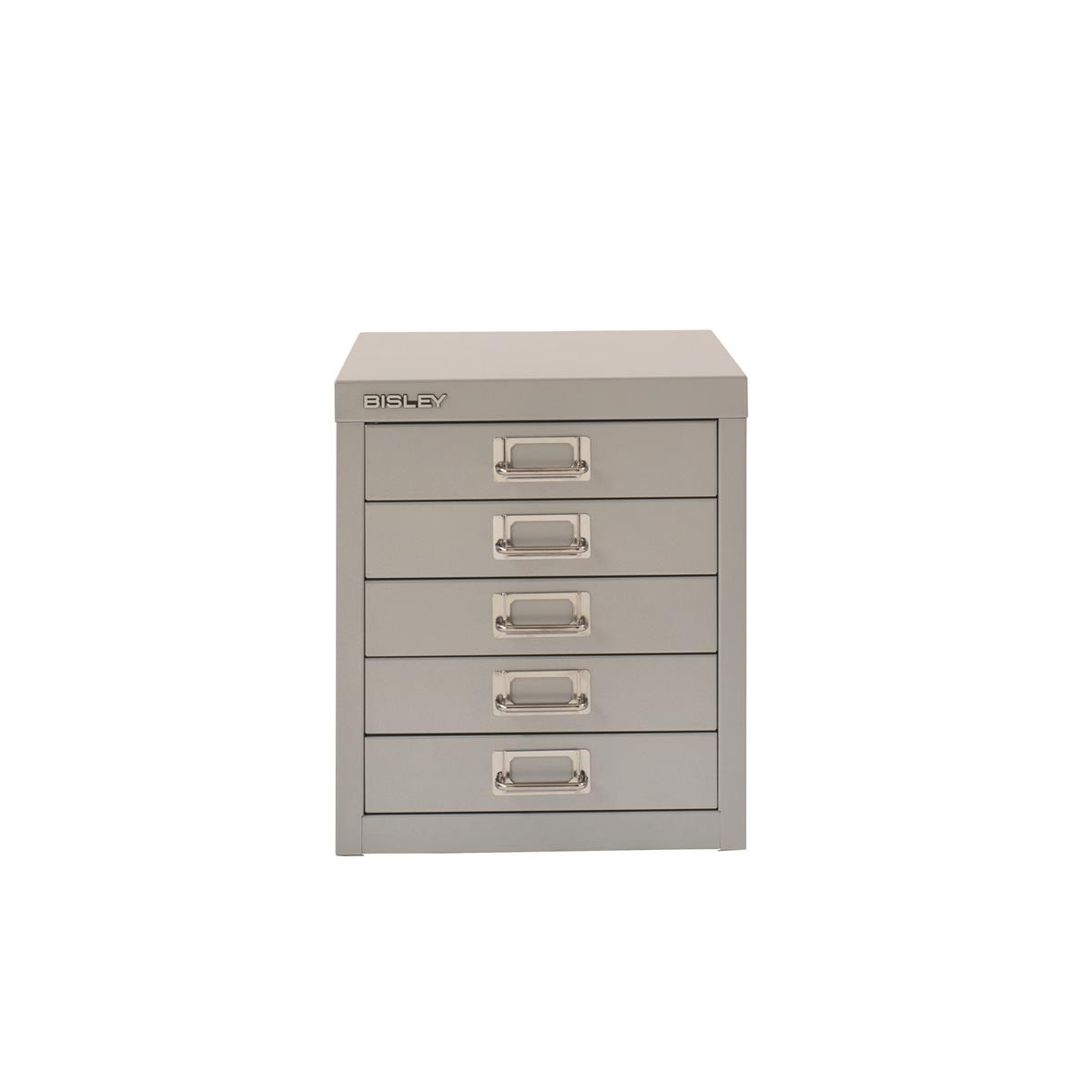 Image for Bisley SoHo 5 Draw Multidrawer 279x380x325mm Grey Ref H125NL-av4