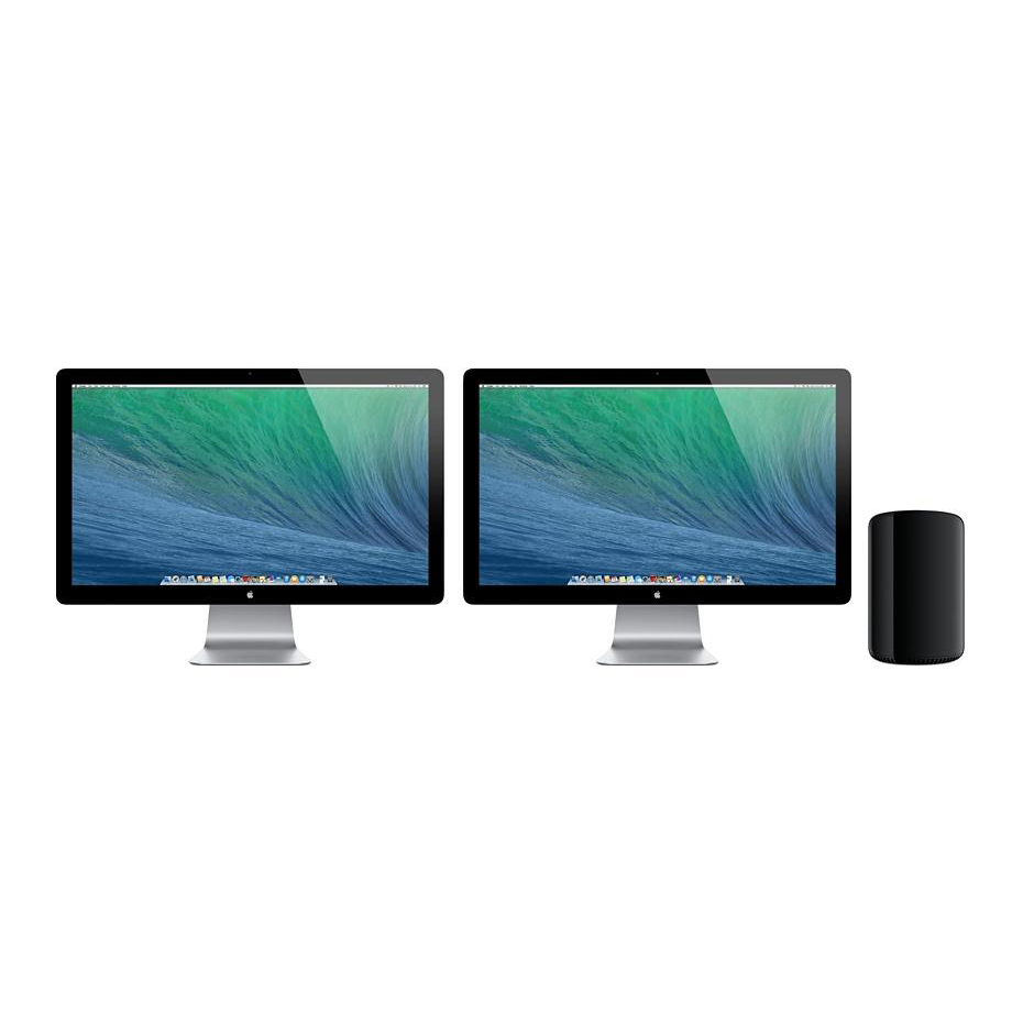Apple Mac Pro 16GB RAM 256GB SSD 3.5GHz Intel 6-Core Processor Dual AMD Graphics Bluetooth Ref MD878B/A