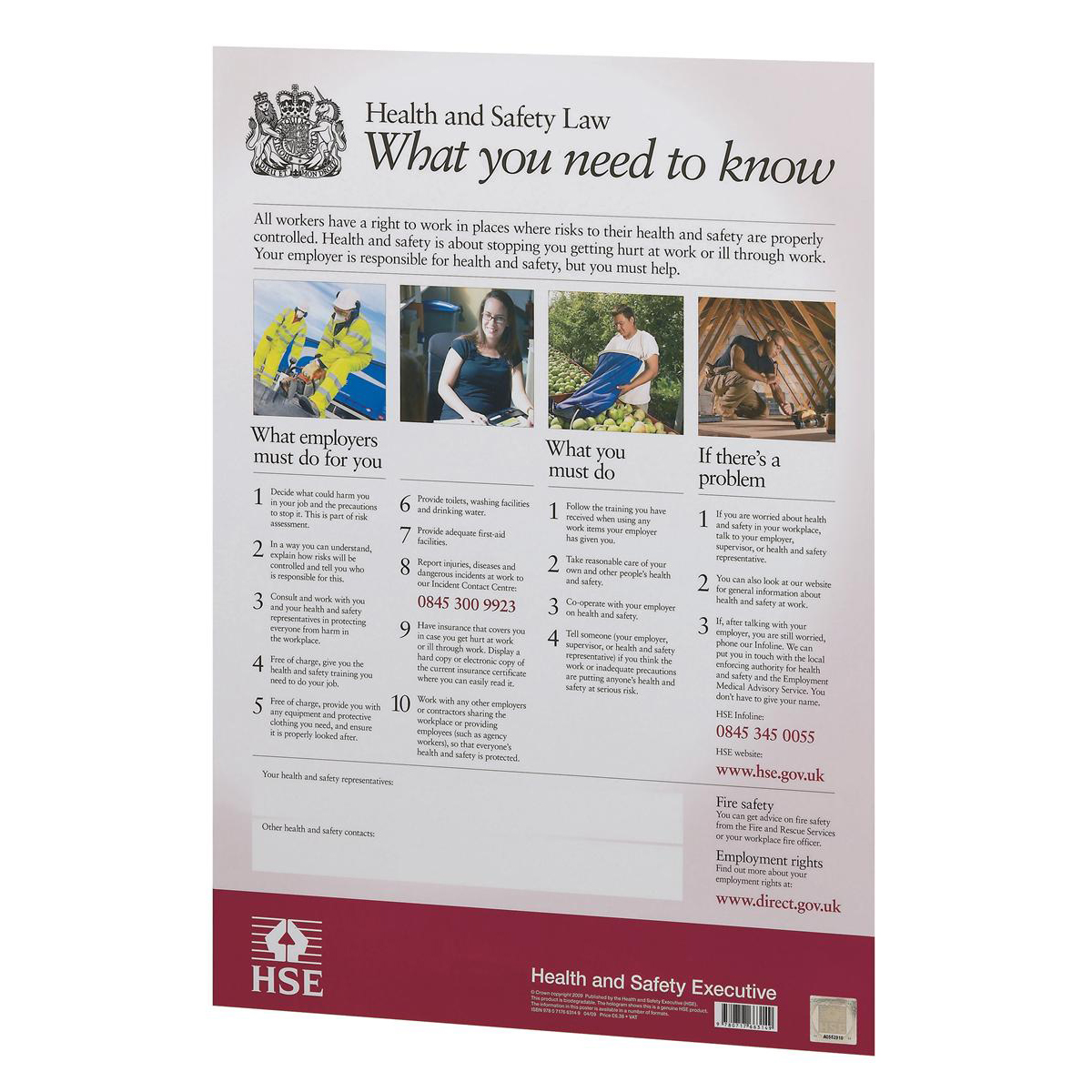 Stewart Superior Health and Safety Law Poster PVC W297xH420mm A3 Ref FWC0/A3