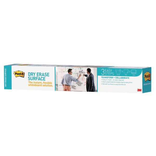 Post-it Super Sticky Dry Erase Film Roll Self-adhesive 1219x1829mm White Ref DEF6x4-EU