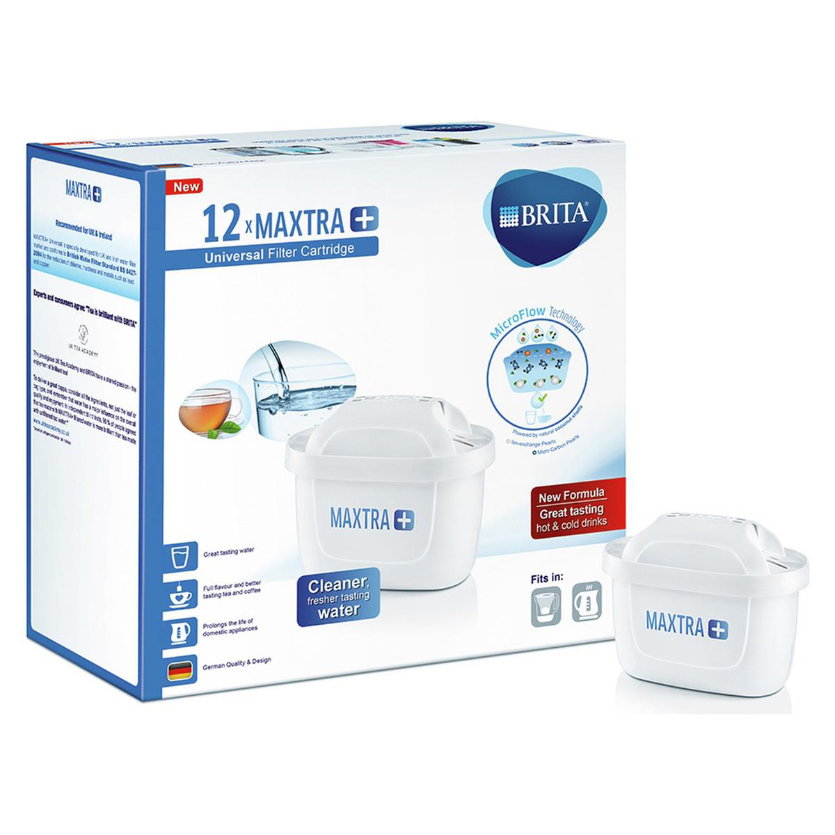 Water Machines & Accessories Brita Maxtra Plus Water Filter Cartridges Recyclable Ref 1030029 Pack 12