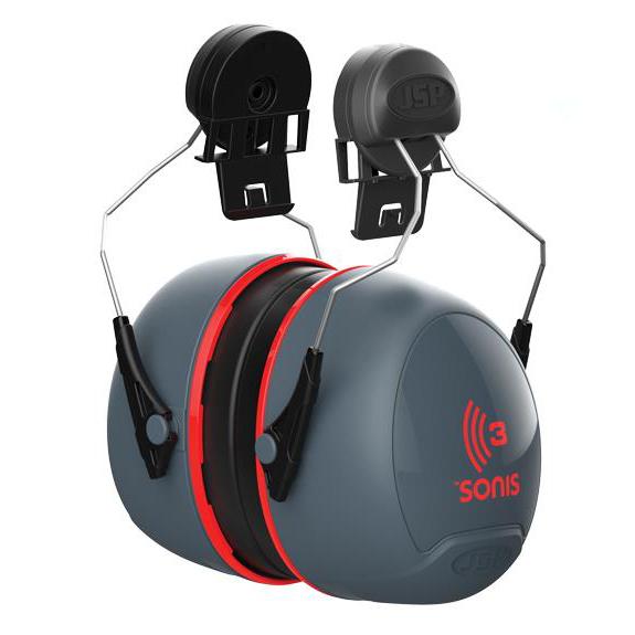 JSP Sonis 3 Ear Defenders High Attenuation Helmet-mounted Ref AEB040-0C1-AG1