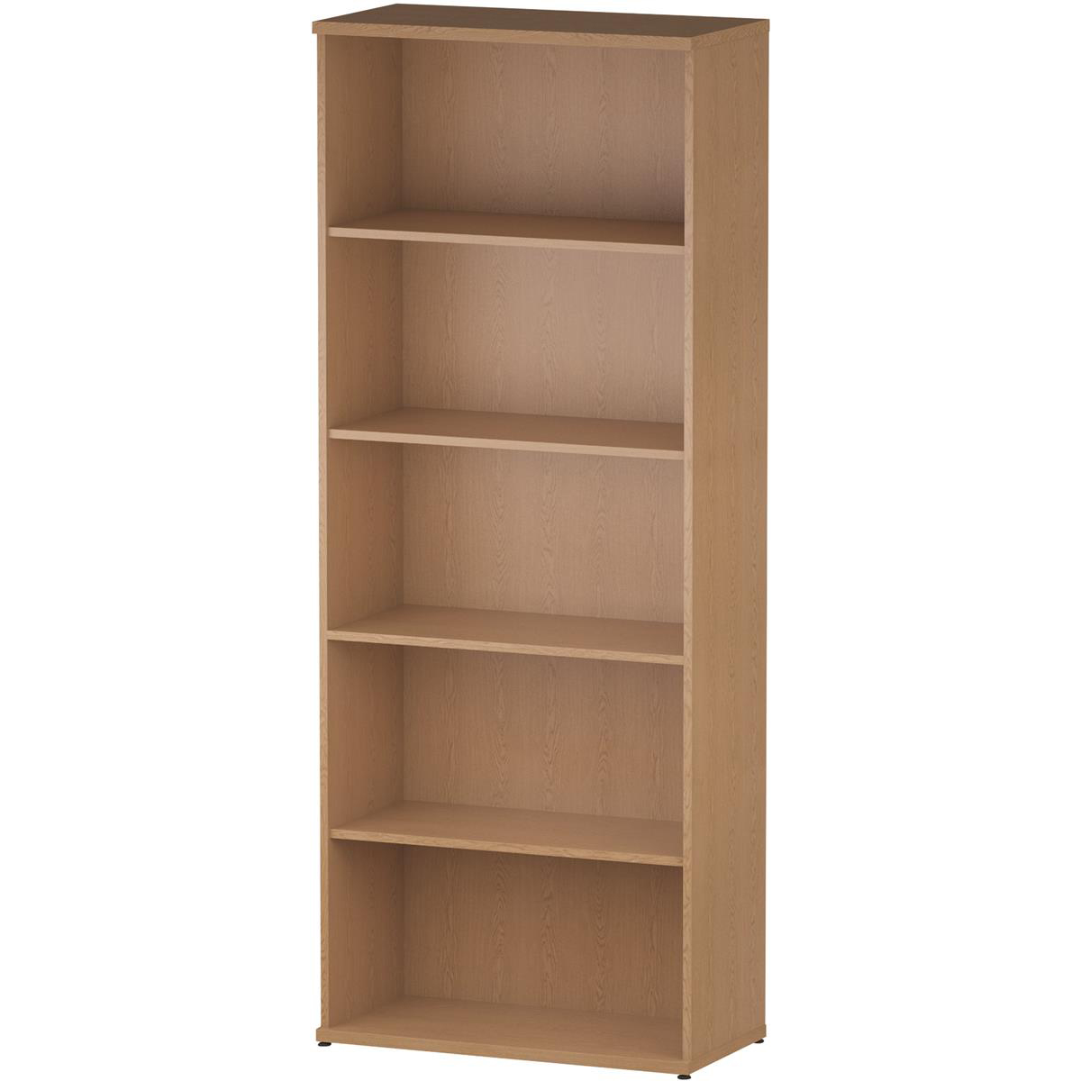 Bookcases Trexus Office Very High Bookcase 800x400x2000mm 4 Shelves Oak Ref I000760