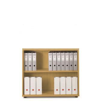 Sonix Low Bookcase 1000x425x870mm 1 Shelf Natural Oak Ref w9875o