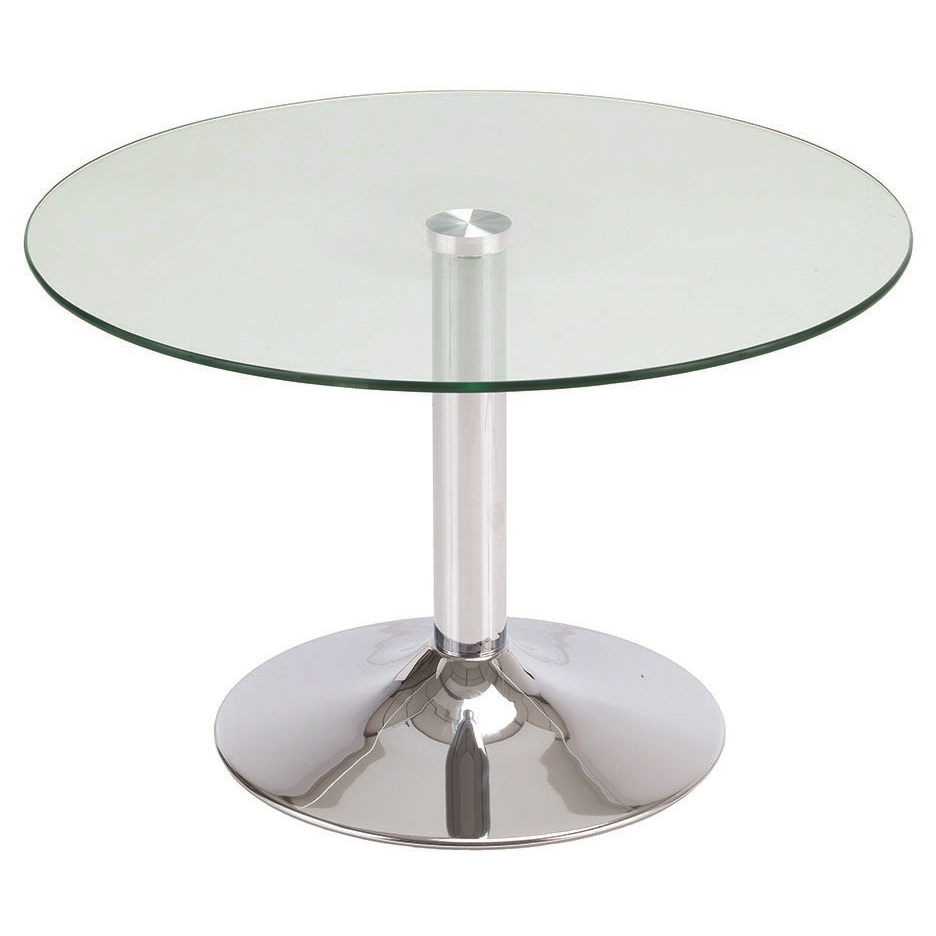 Sonix Circular Glass Table 700x700x450mm Chrome Leg