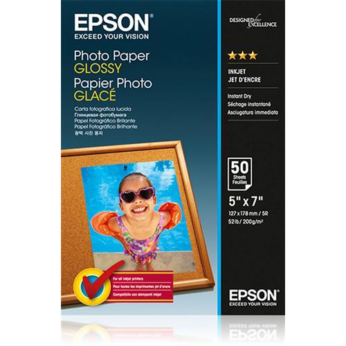 Epson Premium Photo Paper Gloss 200gsm 130x180mm Ref C13S042545 50 Sheets