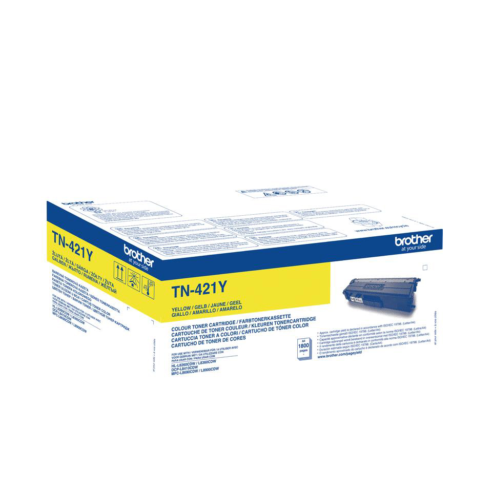 Brother TN421Y Yellow Toner Cartridge