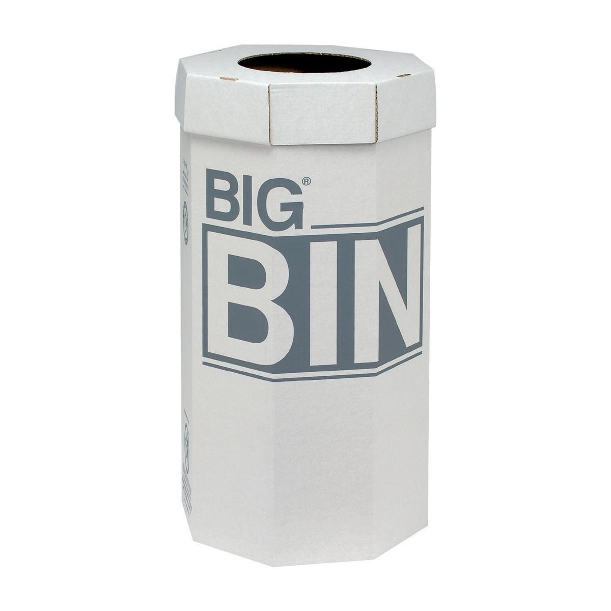 Recycling Bins Acorn Large Bin Flat Packed Recycled Board Material 160 Litres 450x900mm White Ref 142958 [Pack 5]