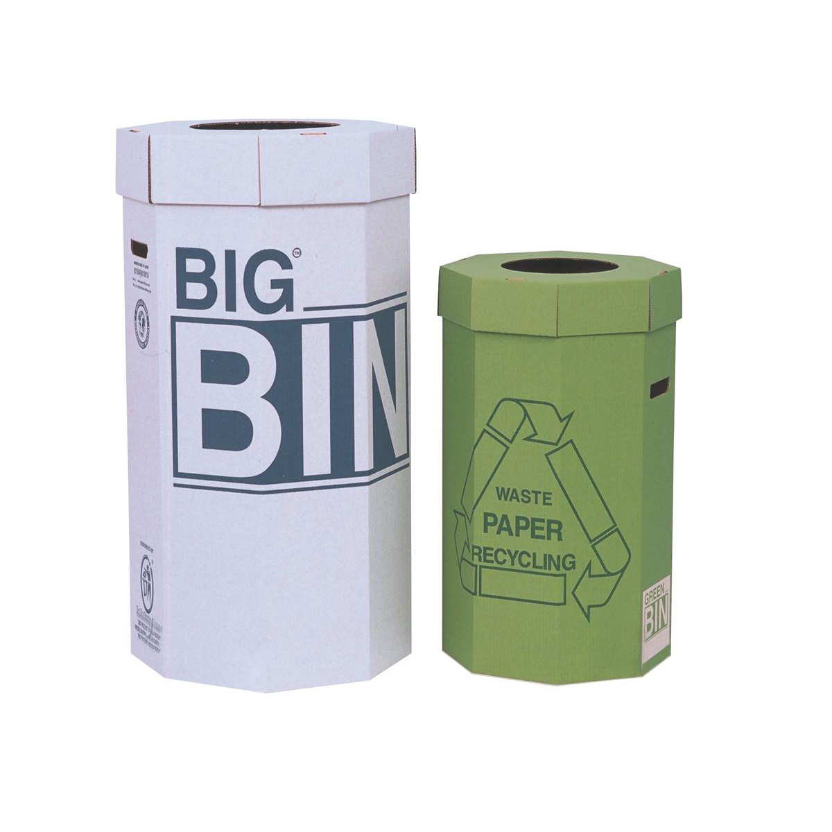 Acorn Large Bin Flat Packed Recycled Board Material 160 Litres 450x900mm White Ref 142958 Pack 5