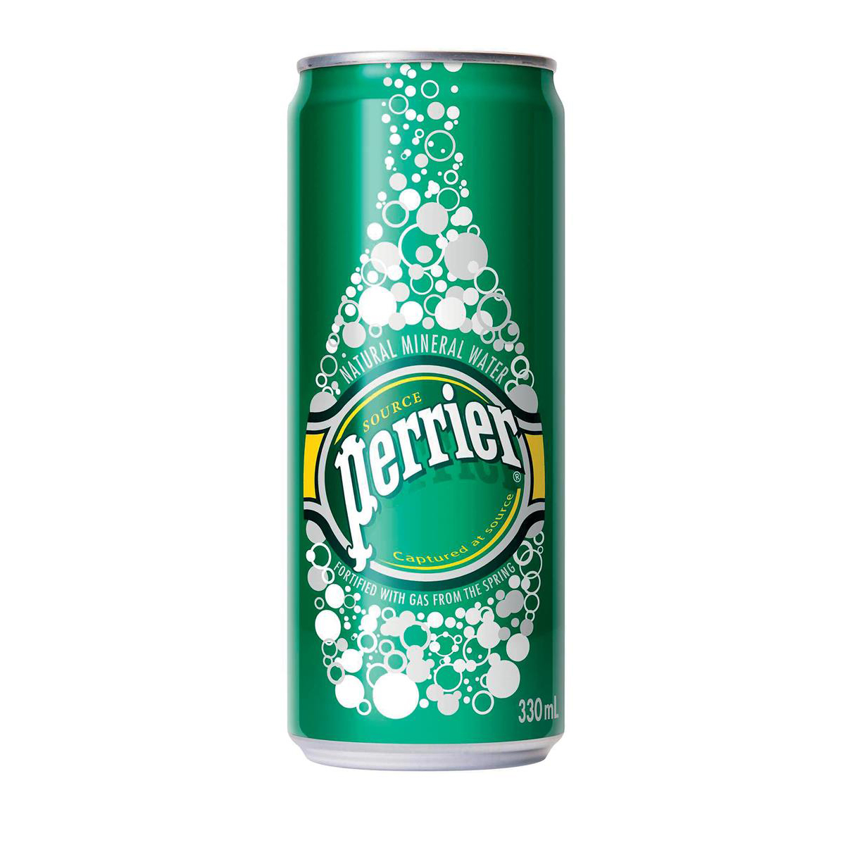 Perrier Sparkling Mineral Water Can 330ml Ref 11648958 [Pack 24]