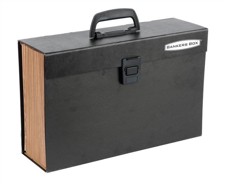 Image for Bankers Box by Fellowes Handifile Expanding Organiser Briefcase Black Ref 9351501