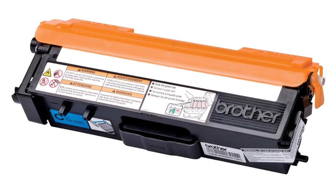 Brother Laser Toner Cartridge Super High Yield Page Life 6000pp Cyan Ref TN328C