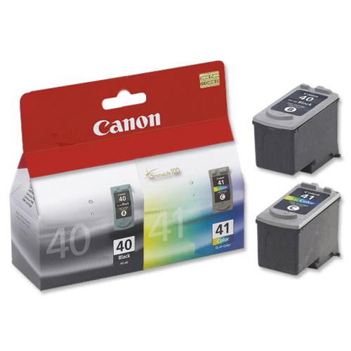 Canon PG-40/CL-41 Inkjet Cartridge Page Life329pp Black/Page Life 312pp Tri-Colour Ref 0615B036 [Pack 2]