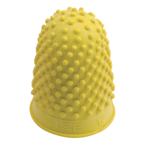 Thimbles Quality Thimblette Rubber for Note-counting Page-turning Size 2 Large Yellow Ref 265494 Pack 10