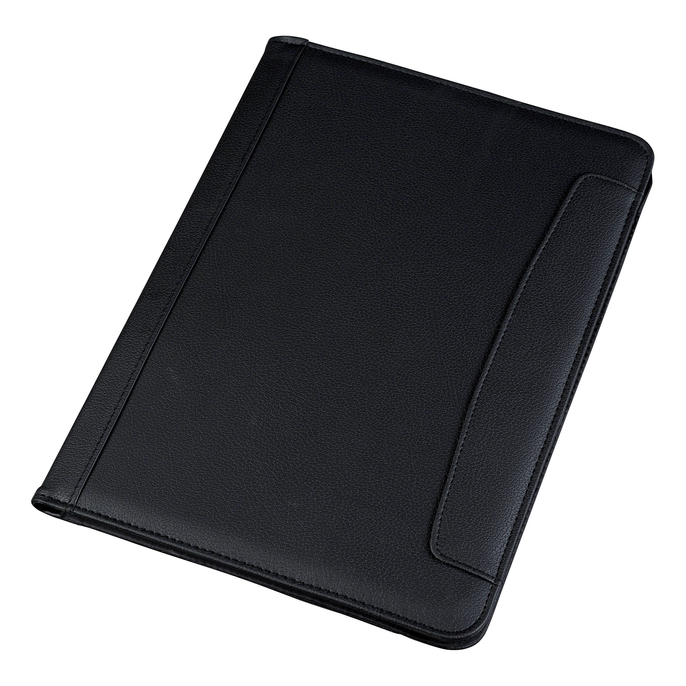 Potfolios 5 Star Office Conference Folder Leather Look A4 Black