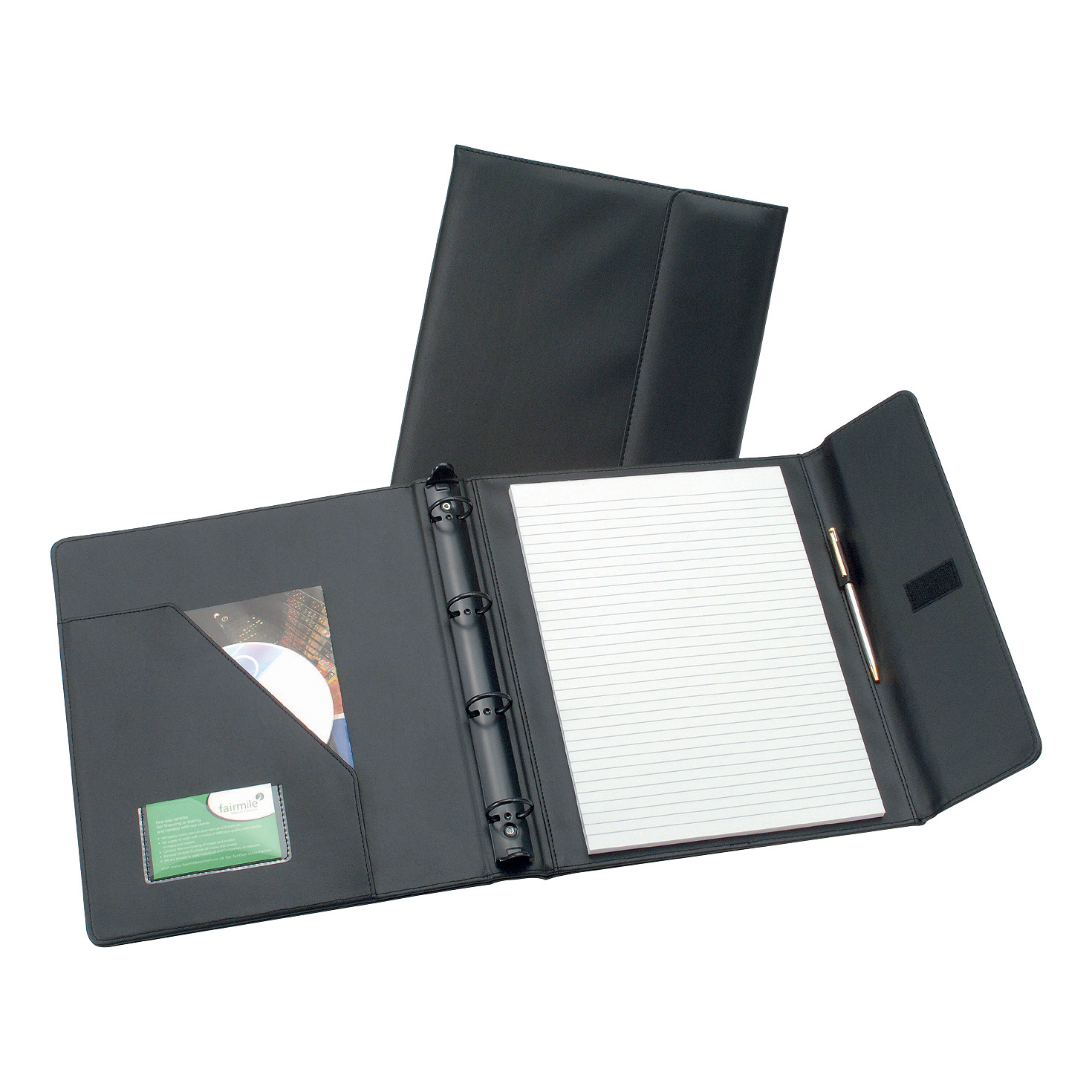 Potfolios 5 Star Elite Executive Conference Ring Binder with Hook and Loop Closure Capacity 50mm A4 Black