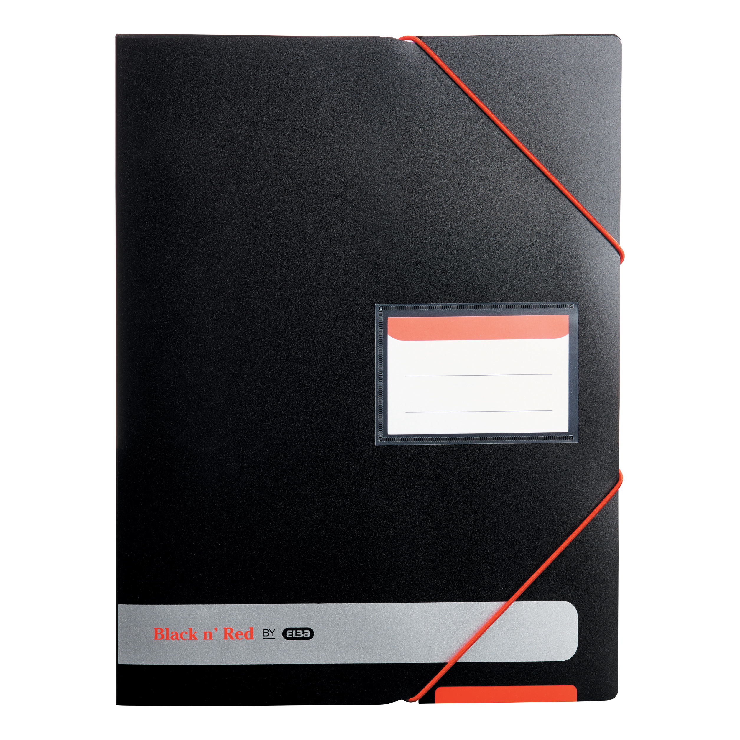Display Books Black n Red by Elba Display Book Polypropylene 20 Pockets Elastic Straps A4 Opaque Ref 400050725