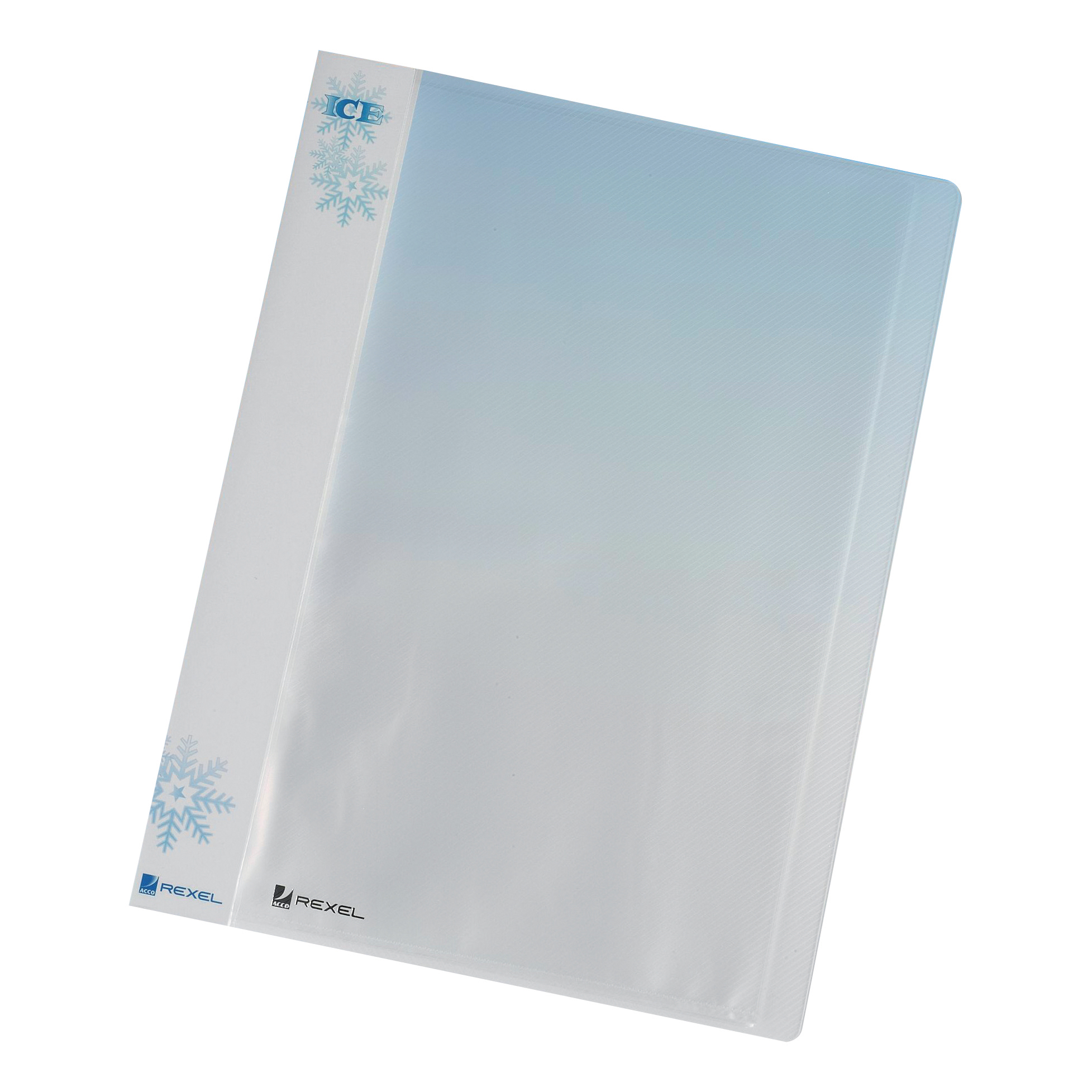 Rexel Ice Display Book Polypropylene 40 Pockets A4 Clear Ref 2102041 Pack 10