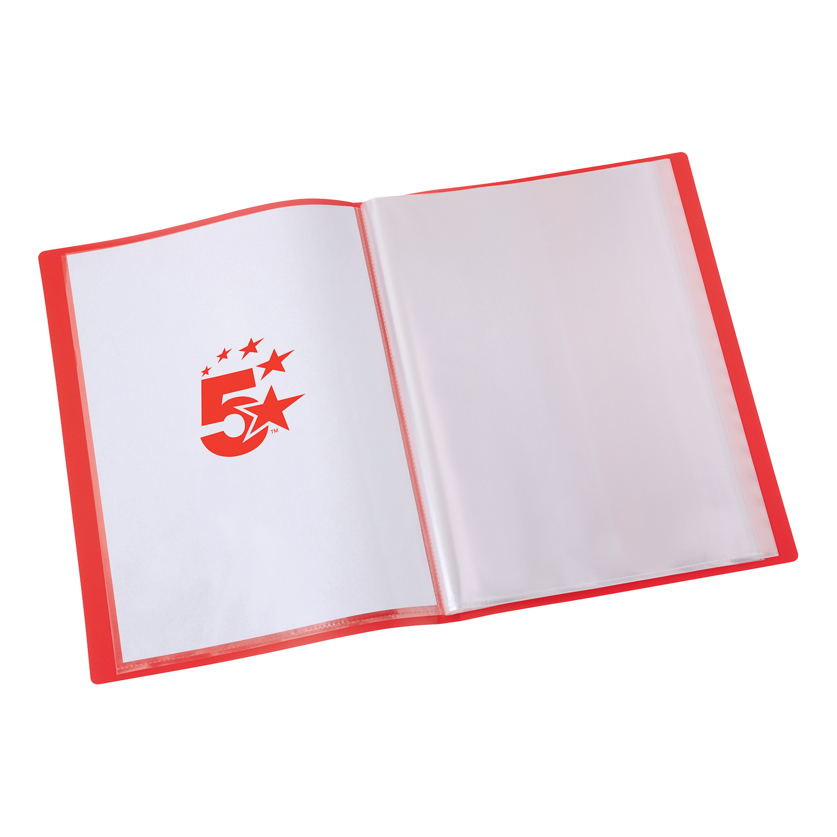 5 Star Office Display Book Soft Cover Lightweight Polypropylene 40 Pockets A4 Red
