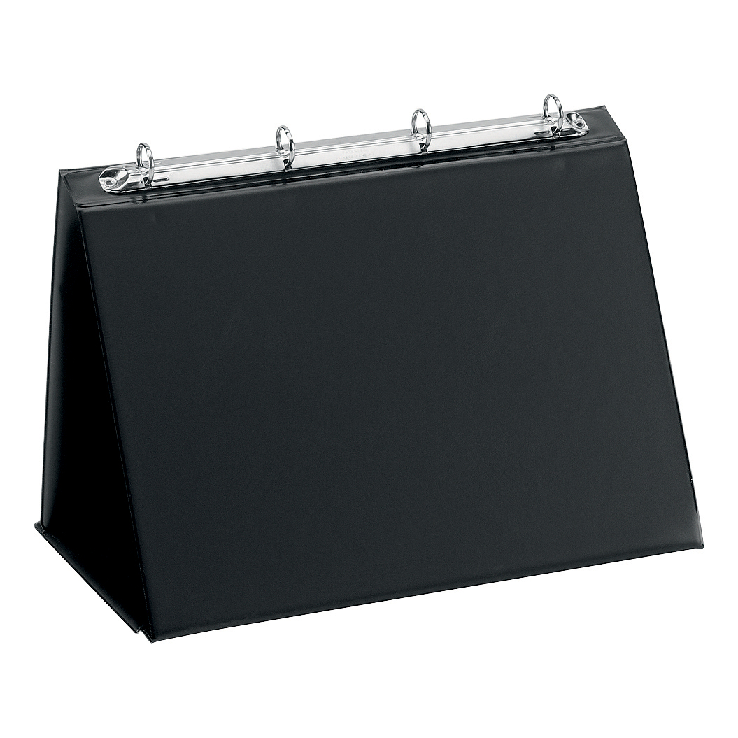 Easel Presenter Collapsible Flip Over 4 Ring 20mm Landscape A3 Black