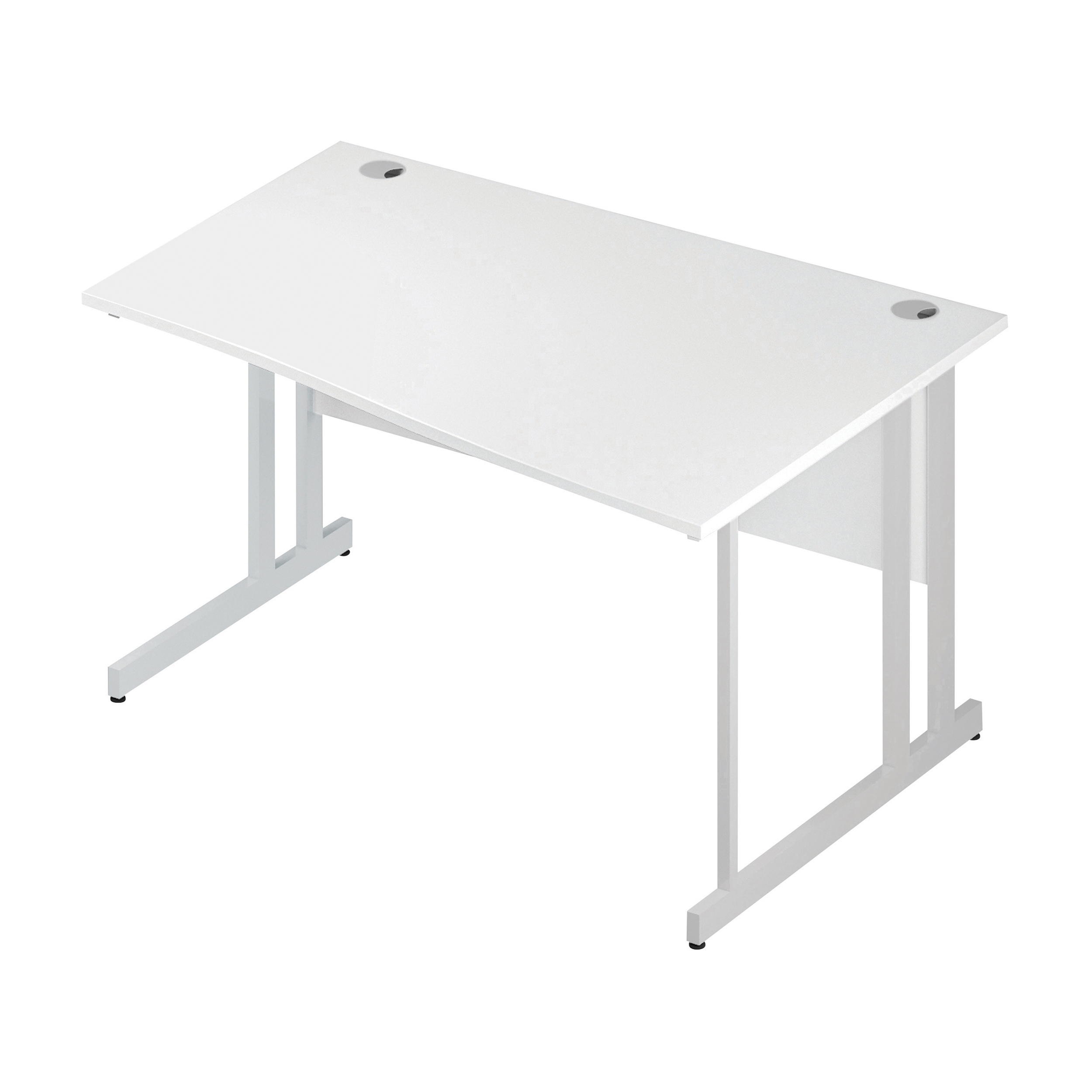 Trexus Wave Desk Right Hand White Cantilever Leg 1400mm White Ref I002342