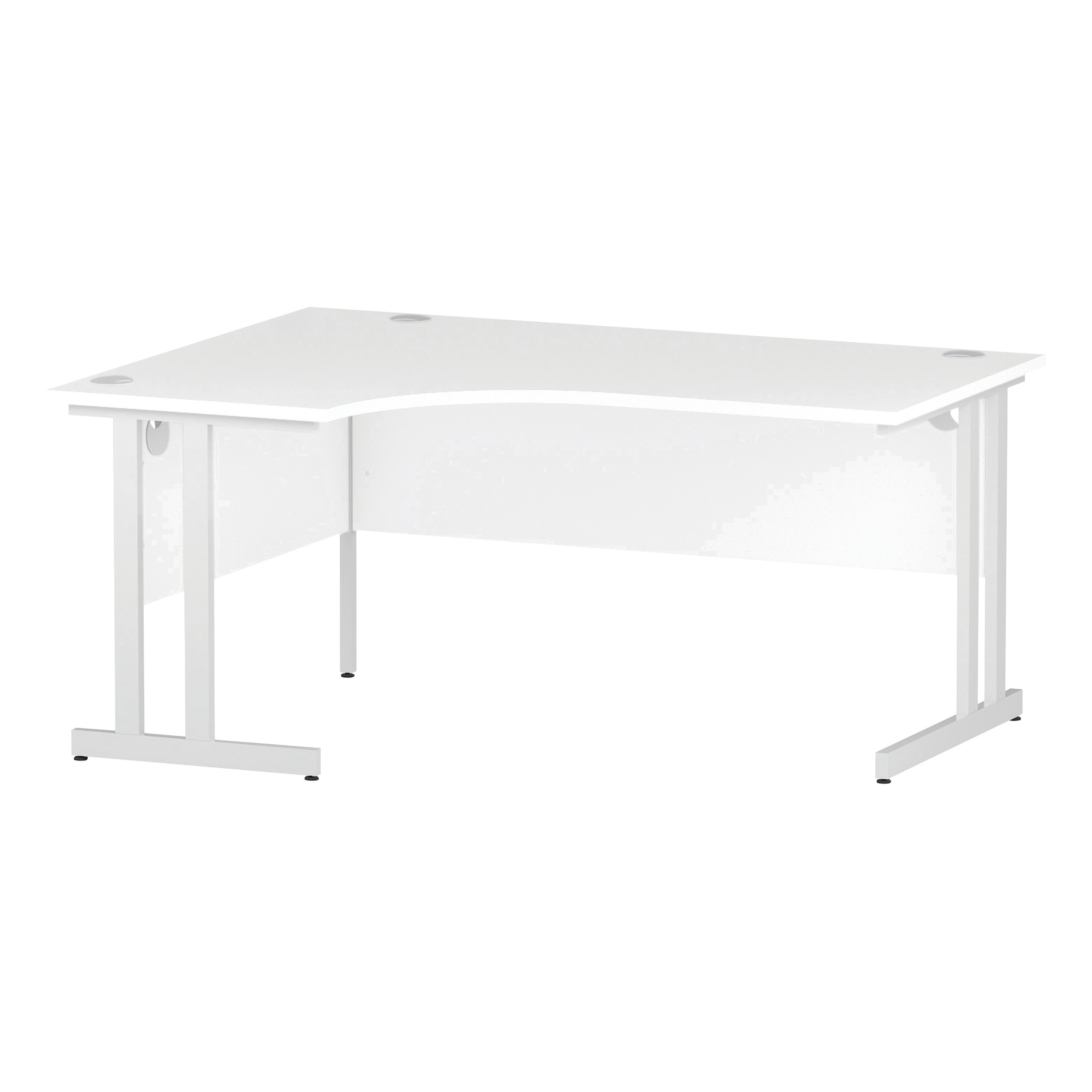 Trexus Radial Desk Left Hand White Cantilever Leg 1600mm White Ref I002392