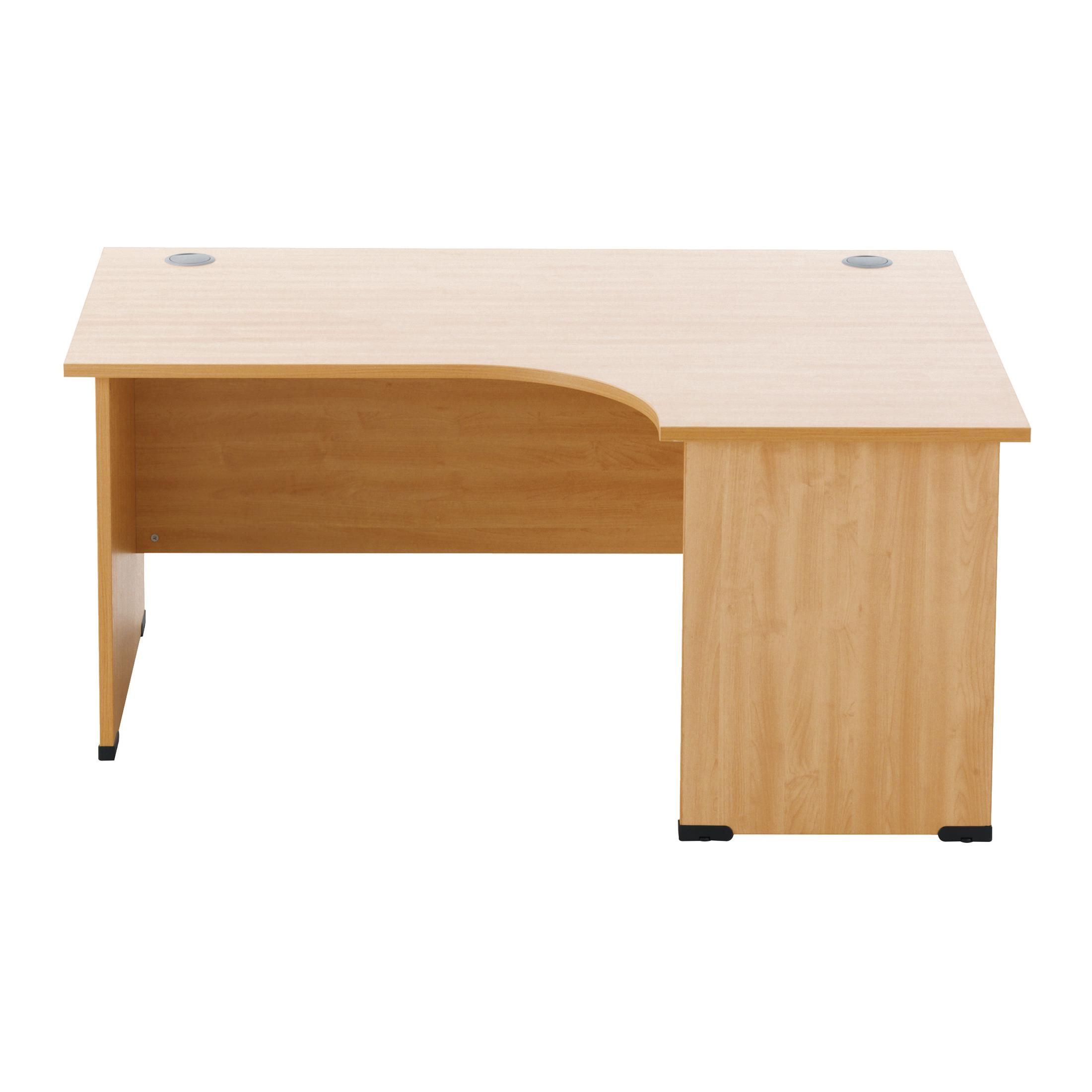 Desks Sonix Radial Desk Right Hand Panel End Legs 1600/1170mm Rich Beech Ref w9410rb