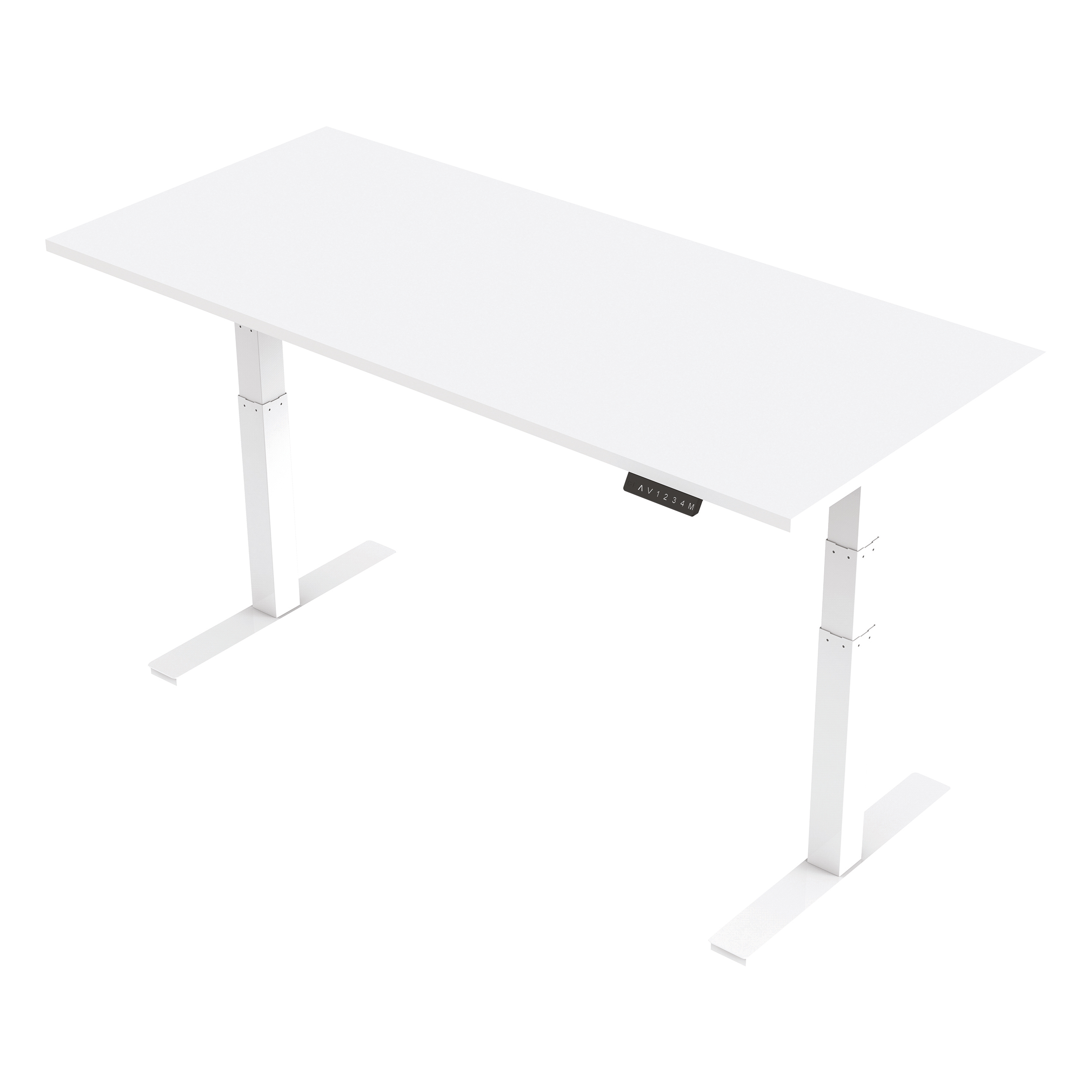 Trexus Sit Stand Desk Height-adjustable White Leg Frame 1800/800mm White Ref HA01032